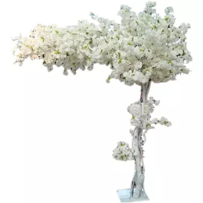 180cm tall Wedding White peach artifical tree cherry blossom tree Wedding Decoration road leads Event Props