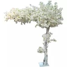 180 см высокий Свадебный белый персик художественное дерево/Вишневое цветение дерево-свадебное украшение дорога поводки события реквизит