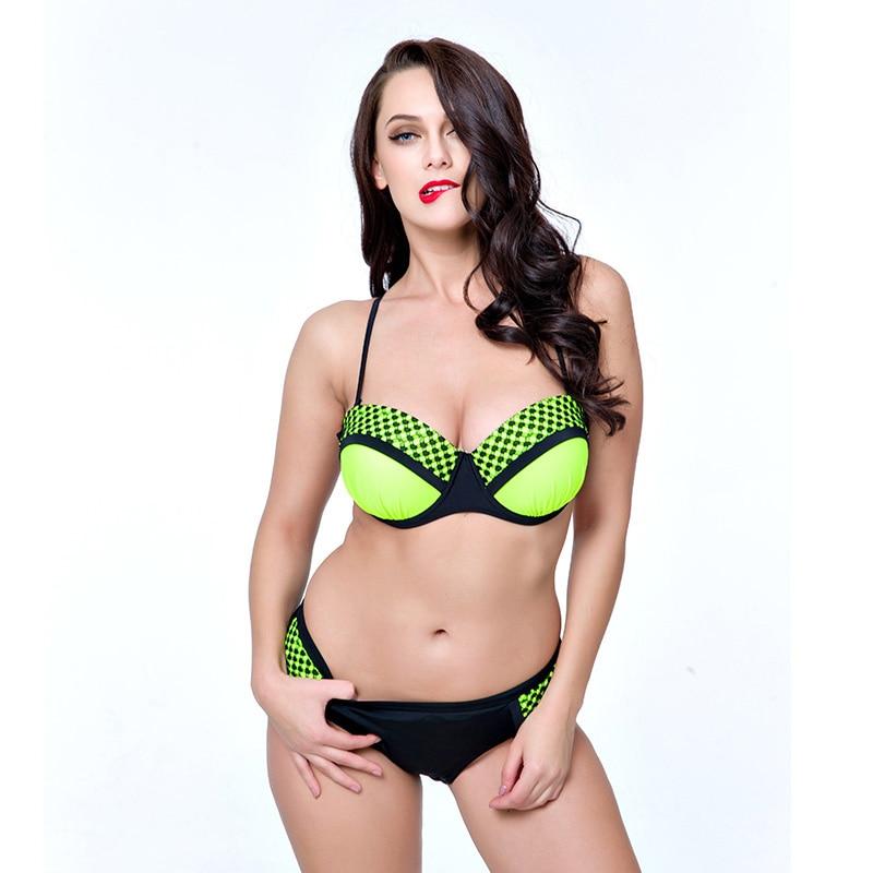2017 nieuwe Sexy xxxl blauw Push Up Big grote badpak halter xxxxl - Sportkleding en accessoires - Foto 2
