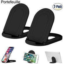 Portefeuille Cell Phone Stand Foldable Tablet Holder for Huawei mate 10 lite P10 Oneplus 5T Smartphone iPhone X 8 Plus 7 SE 6 6S(China)