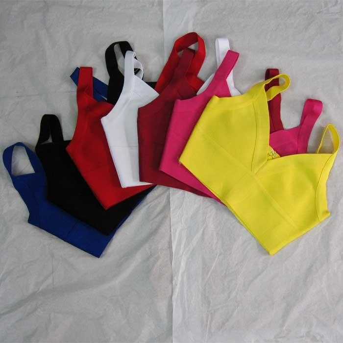 Bandage Tops Sexy Fashion New Deep-V-Neck-Sling Top-A-Variety-Of-Colors H1193 Factory-Wholesale