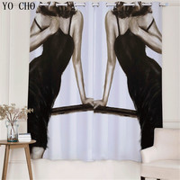 YO CHO Fashion Lipstick girl blackout rideaux boys curtains luxury hotel curtains blackout curtains for the bedroom salon