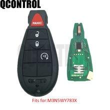 Qcontrol auto remoto chave inteligente para o comandante do carro jeep grand cherokee pn m3n5wy783x/IYZ-C01C 433 mhz