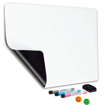 Magnetic Dry Erase Whiteboard Sheet for Kitchen Fridge: with Stain Resistant Technology Includes 3 Markers and Big Eraser whiteboard