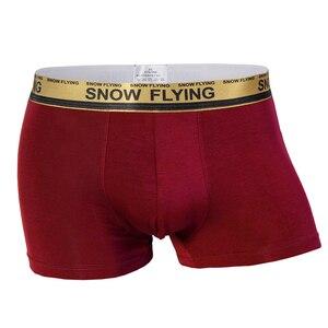 Image 3 - Men Boxershorts Solid Boxers Underwears Cotton Calecon Homme De Marque Male Panties Plus Size Underpants Shorts For Men 5pcs/lot