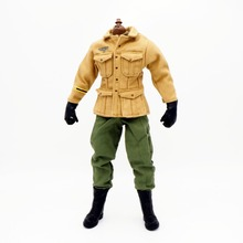 купить 1/6 Scale Uniforms Accessories  Clothes Airborne Soldier Uniforms set For 12 Male Military Action Figure Body недорого