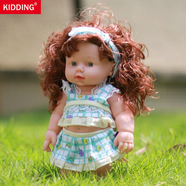 KIDDING BRAND 30cm Reborn Baby Doll Soft Vinyl Silicone Lifelike Alive Babies Toys For Kids Girls Birthday Chirstmas Gift KF098