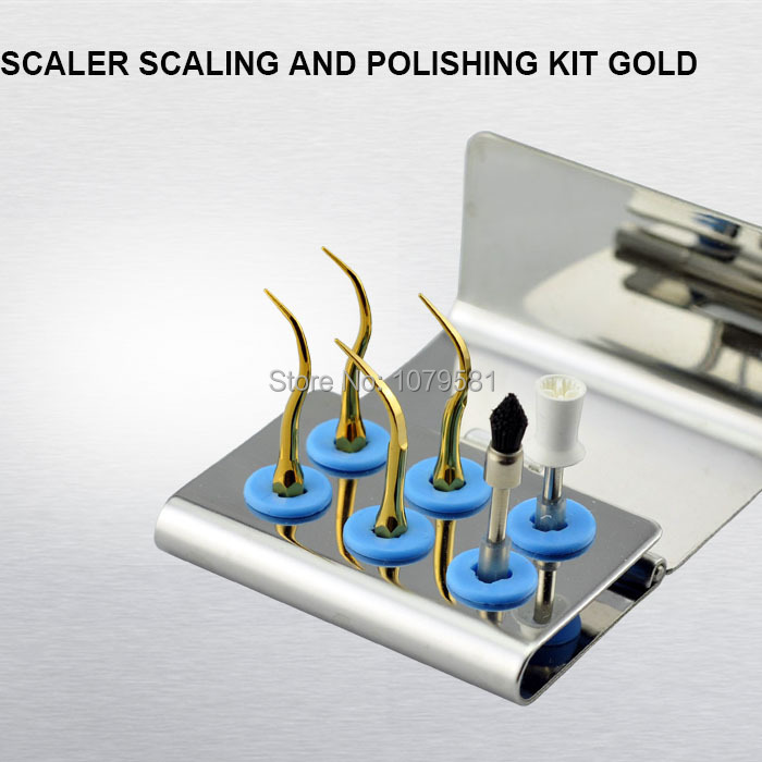 1set KUSPKG scalers scaling and polishing kit every single tip is made by heart Unique scaler tips kits dental equipment dentist every набор чехлов для дивана every цвет горчичный