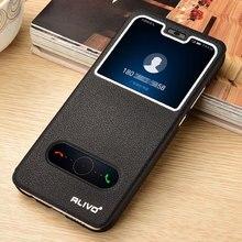 Voor Huawei Honor 8C Case Luxe Venster Boek Stand Flip Case Voor Huawei Honor 8C BKK L21 Cover Leather Honor 9X 8X Telefoon Case 8 S