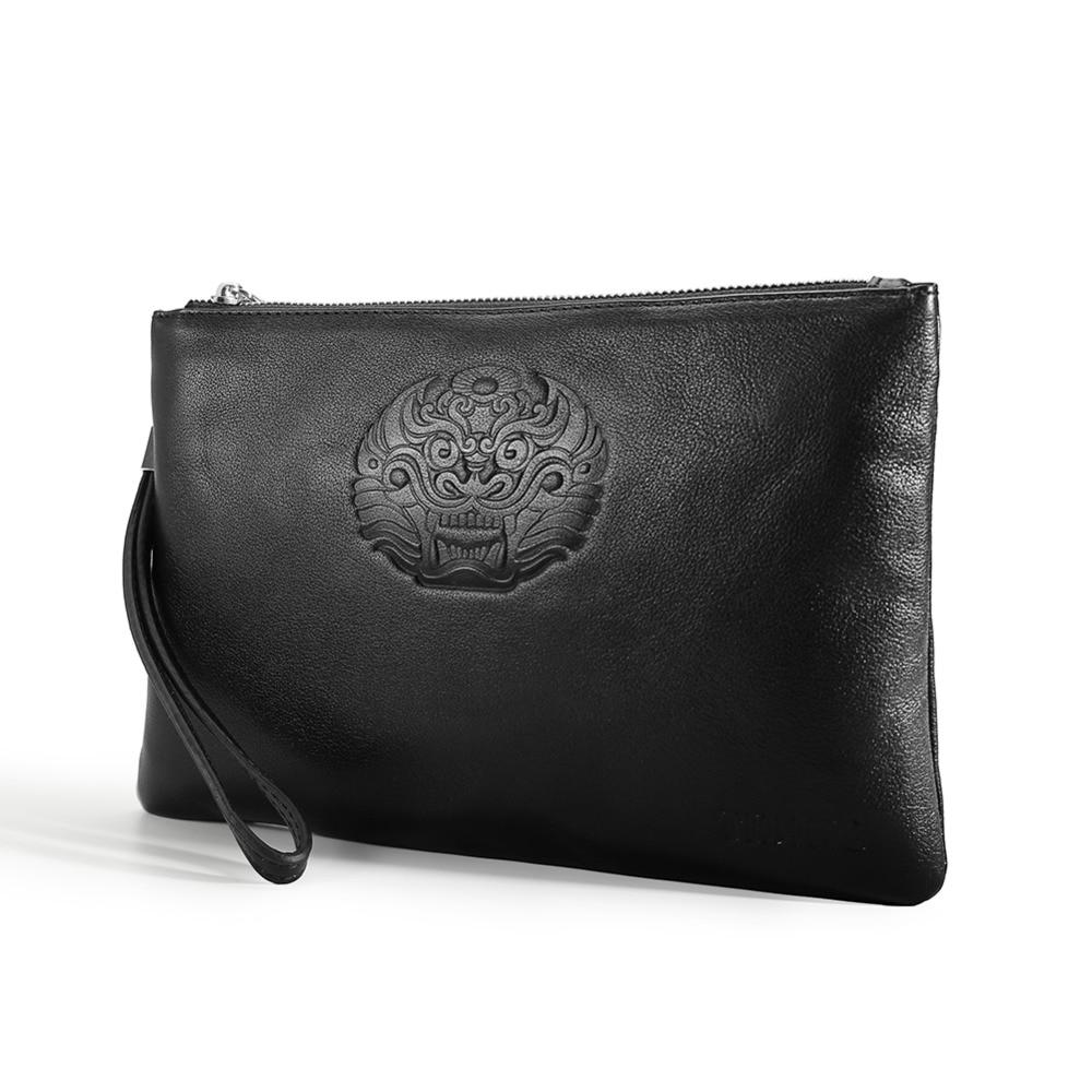 TIDING Designer clutch purses slim full grain genuine leather men women handbag wrist bag with strap 8813LHTIDING Designer clutch purses slim full grain genuine leather men women handbag wrist bag with strap 8813LH