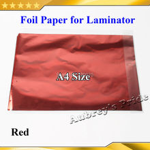 Free Shipping 50 Pcs Red 20x29Cm A4 Hot Stamping Foil Paper Laminator Laminating Transfered Elegance Laser Printer Business Card
