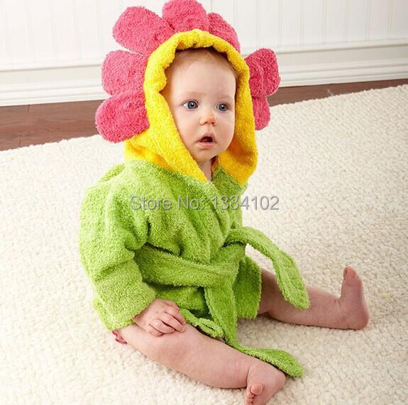 ¡ Caliente! Retail boy chica Animal Del Bebé albornoz/baby capucha toalla de baño/kids bath terry niños infantes de baño/baby Baby Honeybaby