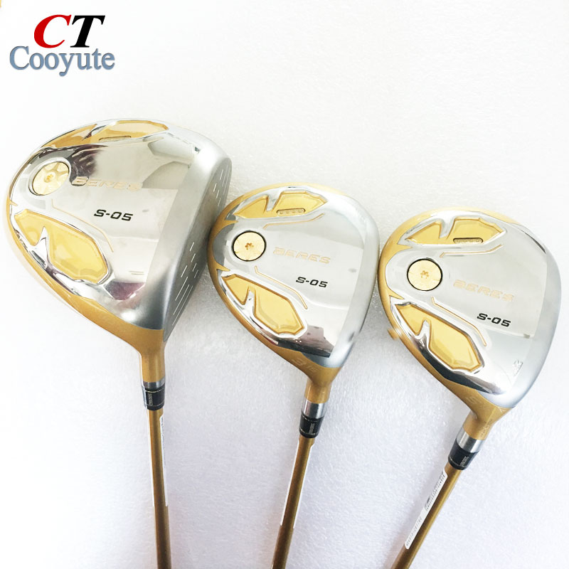 Cooyute New mens Golf clubs HONMA S-05 4 star Golf wood Complete set Golf driver with Fairway Woods Graphite shaft Free shipping