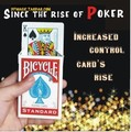 The rise of poker card without hidden line or rubber band magic tricks with bicycle cards