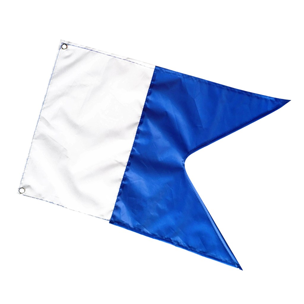50x35cm Scuba Diving Dive Boat Alpha Flag National Banner International Sign Polyester Taffeta