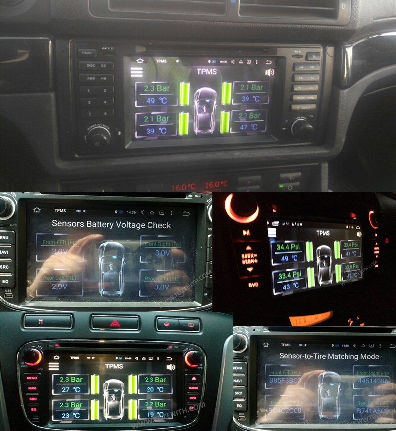 android car dvd tire monitor sensor tire pressure sensor