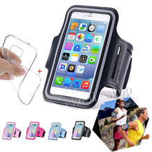 Waterproof Sport Running Armband Case Workout Armband Pouch For iphone 6/6S 6S Plus Cell Mobile Phone Arm Bag Band Gym+TPU Case
