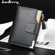 2016 New brand short leather men's wallet,high quality guarantee zipper purse for male,nice coin purse, free shipping