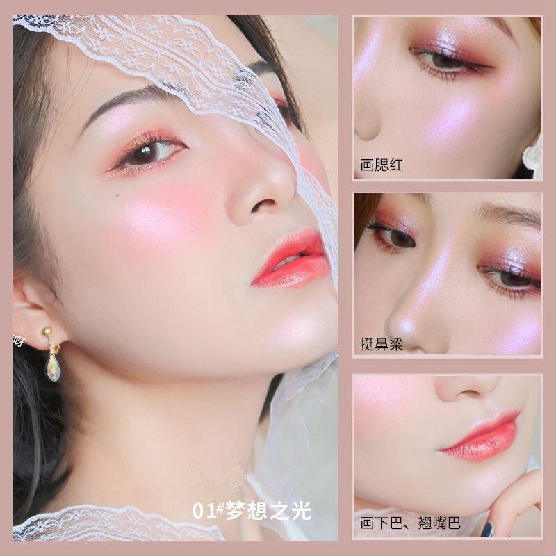 Face Makeup Highlighter Bronzers Palette Glow Kit Facial Contour Shimmer Powder Body Brighten Illuminator Highlight Cosmetics 2