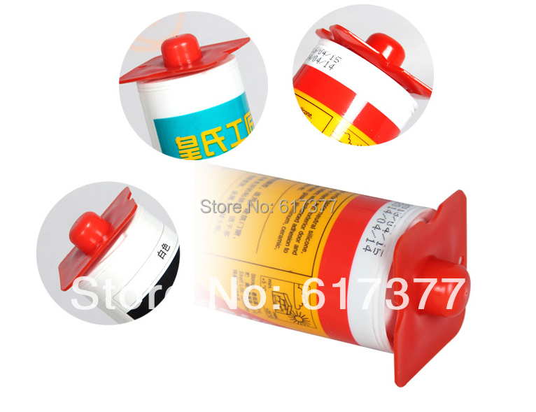 Silicone Sealant Cartridge Scraper With Nozzle Thread To Seal Silicone Sealant After Using 10pcs Per Pack