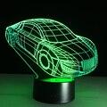 3D Deco Luz Do Motor Automóvel Carro Shape USB Carga Interruptor de Toque Lâmpada Colorida Luz Crianças Noite