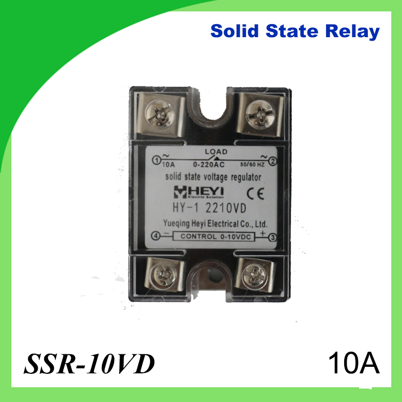 10A SSR,input DC 0-10V single phase ssr solid state relay voltage regulator normally open single phase solid state relay ssr mgr 1 d48120 120a control dc ac 24 480v