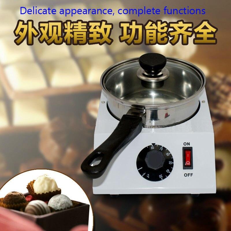 Electric Single cylinder chocolate melting furnace Tempering melting pot  chocolate melter stove melting machine free shipping double cylinder chocolate melting furnace chocolate melting pot