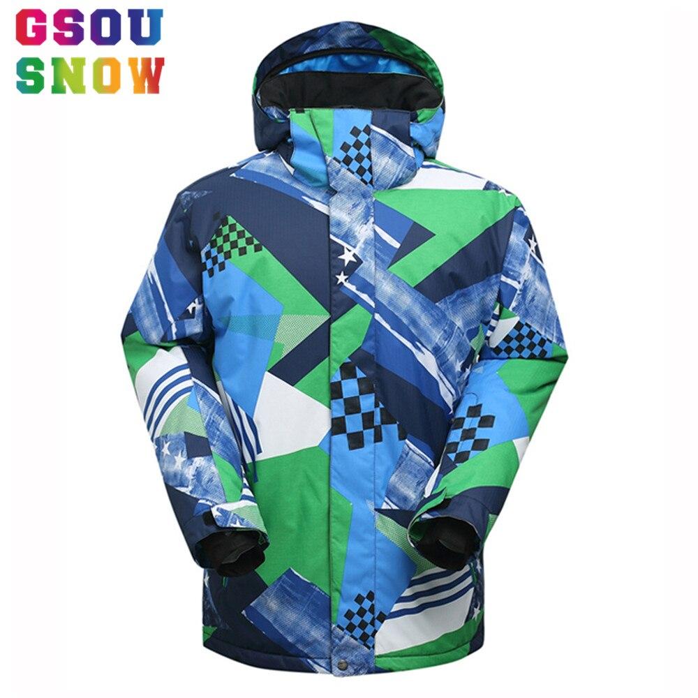 Prix pour Haute Qualité Gsou Snow ski Ski Veste Étanche 10000 Coton Pad Chaud Snowboard Veste masculine manteau de neige En Plein Air Ski Vêtements
