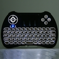 10 Pcs H9 Mini 2 4GHz Wireless QWERTY Mini Game Keyboard Air Mouse Combo With Backlight