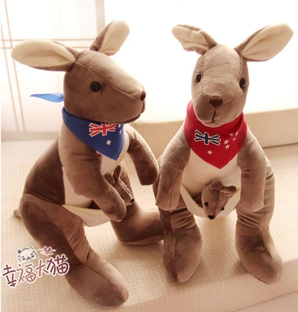 oreiller kangourou 1 pc 45 cm nouveauté mignon cartoon australie kangourou parent  oreiller kangourou