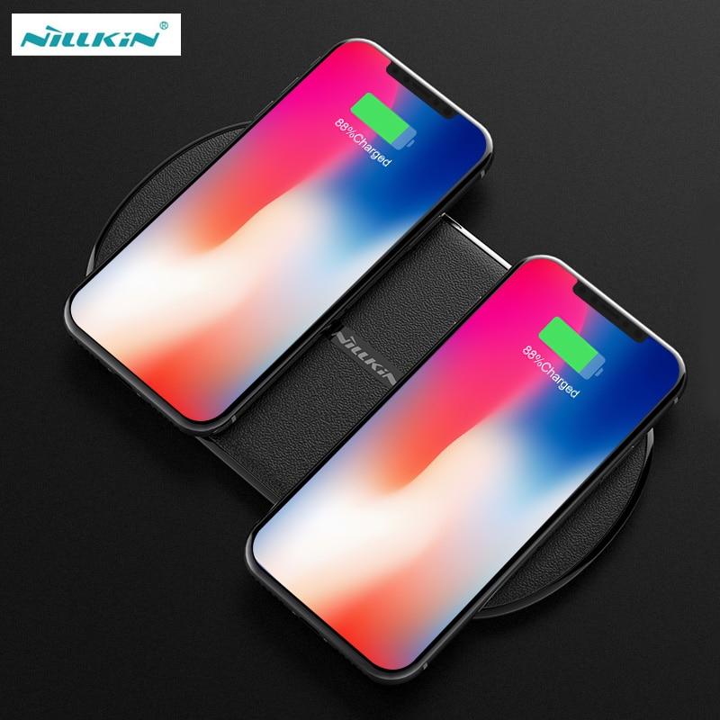 NILLKIN chargeur sans fil pour Samsung Galaxy S9 S8 Plus 2 en 1 Qi chargeur rapide sans fil 7.5 W/10 W pour iPhone 8 Plus XS Max XR