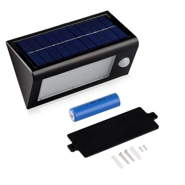 U-EASY LED Solar Motion Sensor Wall Lamp Integrated High Brightness 32 LED Wall Mounted Lamp Garage Garden Emergency Lights