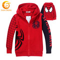 Niños Con Capucha Spiderman Cremallera Vetement Filles Manteaux Veste Ropa de Los Cabritos Muchachas de Los Niños Sudaderas Con Capucha Sudor Para 2-8year