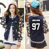 Kpop BTS 2016 NEW Women Long Sleeve Jacket Baseball Sweatshirts K Pop Bangtan Children Autumn Winter