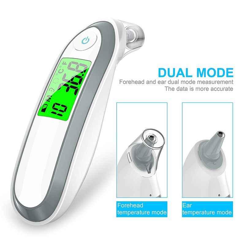 Oor en Voorhoofd Thermometer Digitale Medische Infrarood Thermometer Voor Baby Kinderen en Volwassenen Fahrenheit en Celsius Converti