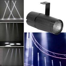 3W LED White Beam High Power Light Spotlight Super Bright Lamp Mirror Balls DJ Disco Effect Stage Lighting for KTV DJ