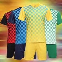 2016 New Men's Soccer Jerseys Blank Training Set 16-17 Soccer Uniform Plain Football Suits Customize Logo Name For Adult/Kids