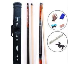 PREOAIDR 8K4 Billiard Cue Pool with Extension 8 Pieces Wood Laminated Shaft Cue+Punch Jump Cue+Case+Glove+Gifts New