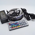Free shipping 5M RGB LED Strip 5050 Non-waterproof 60led/m Flexible LED Light  DC 12V + IR Remote Controller + Power Adapter