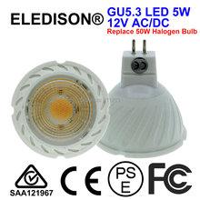 LED Spot Bulb 5W GU5 3 MR16 Projector Lighting 12V AC DC with Lens Home Commercial Lighting Bulb 50W Halogen Bulb Equivalent cheap LIDESENS Industrial ROHS Spotlight 5W LED light GU5 3 bulb Aluminum 1 Year LDS-MR16C-COB5W-A4 Polished Chrome LED Bulbs