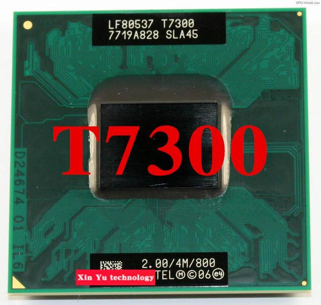 Lifetime warranty Core 2 Duo T7300 2.0GHz 4M 800 Dual Notebook processors Laptop CPU Socket PGA 478 pin Computer Original