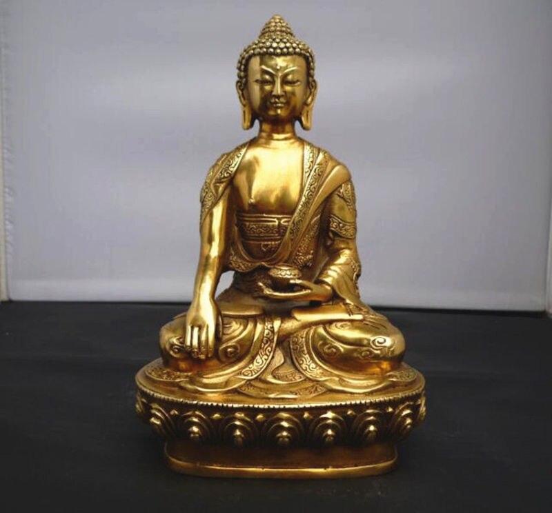 Tibet Tibetan Buddhis shakyamuni bronze buddha statueTibet Tibetan Buddhis shakyamuni bronze buddha statue