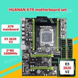 Descuento placa base HUANAN ZHI X79 LGA2011 placa base CPU RAM combo CPU Xeon E5 2620 V2 2,1 GHz RAM 16G 2 * (8G) 2 años de garantía
