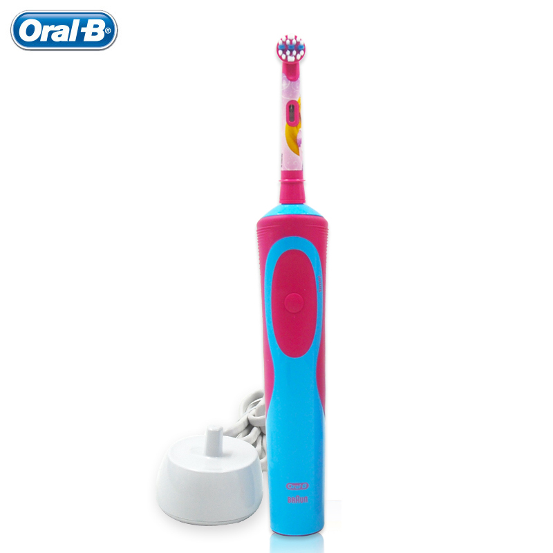 цена Children Teeth brush Oral B D12513K kids Electric Toothbrushes Waterproof Safety Rechargeable Oral Hygiene tooth brush Ages 3+