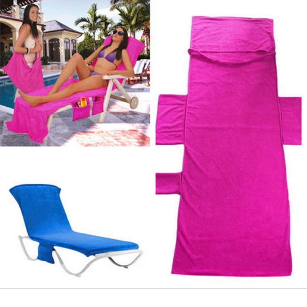 73*210CM Lounger Mate Beach Towel Double Velvet Sunbath Lounger Bed Holiday Garden Beach Chair Cover Towels freeshiping