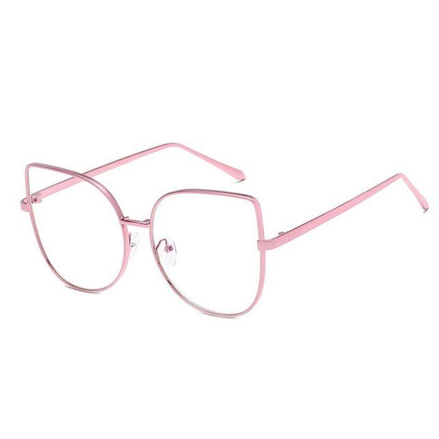 Online Shop Oversized Cat Eye Eyeglasses Optical Myopia Glass Frames ...