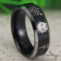 Free Shipping USA UK CANADA RUSSIA Brazil Hot Selling 8MM Black Silver Beveled FMA Legend Of