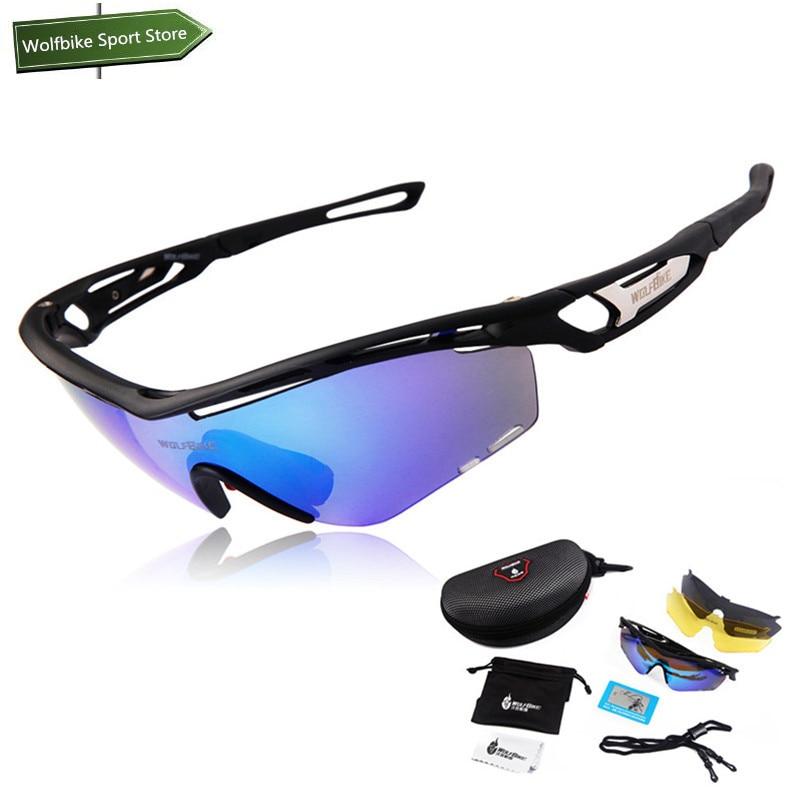Prix pour WOLFBIKE Unisexe Professionnel Polarisé Vélo Lunettes de Vélo Lunettes Conduite Pêche Sports de Plein Air lunettes de Soleil UV400 3 Objectif TR90