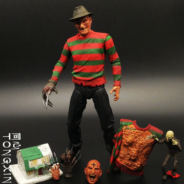 SAINTGI Nightmare on Elm Street Les griffes de la nuit Friday the 13th horror movie gun Anime PVC Action Figure Model Toy 16cm neca a nightmare on elm street 2 freddy s revenge 3 dream warrior freddy krueger pvc action figure collectible model toy 50cm