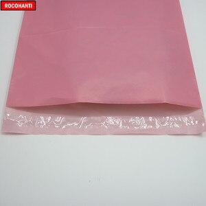 Image 5 - 100x logo Bedruckte Baby Rosa Farbe Schulranzen Post Taschen Poly Mailing Taschen für Kleidung Shop Verschiffen Einkaufen